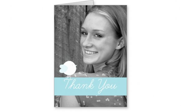 Baby Thank you Cards with Photo insert - Greeting Card Examples and