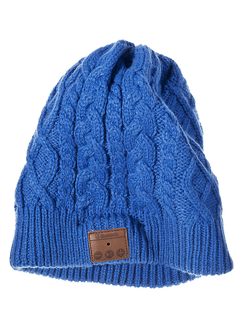 Blue wollie beanie hat.