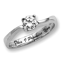 Sterling Silver Cubic Zirconia Promise Ring - PG79627