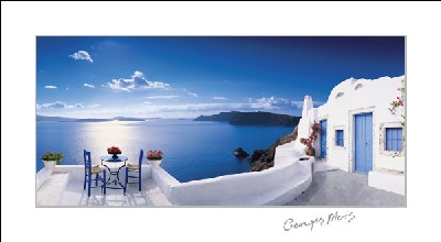 Cheap Black And White Wallpaper Greek Patio Georges Meis Art Prints Amp Posters