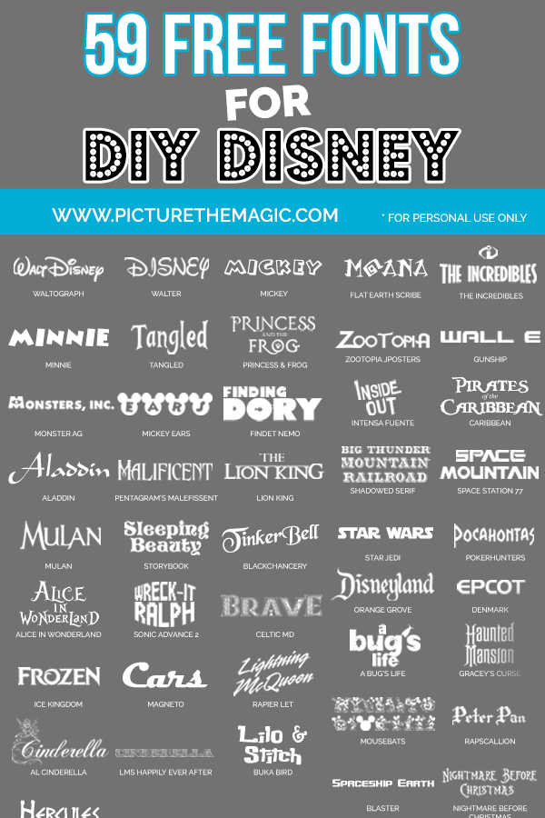 UPDATED 59 Free Disney Fonts (April 2019 edition)
