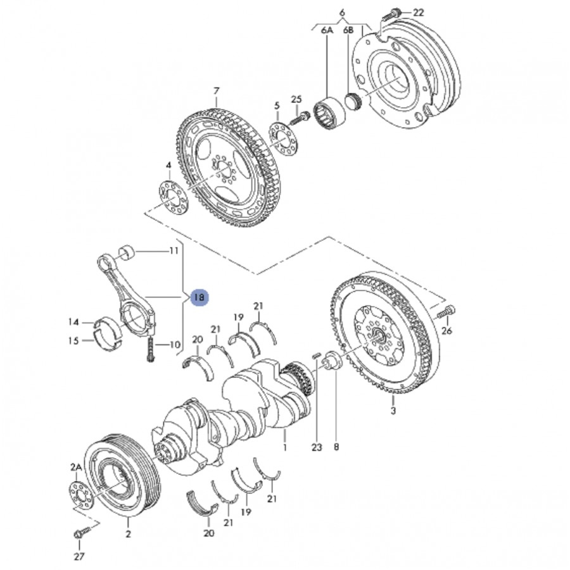 schema moteur audi a6