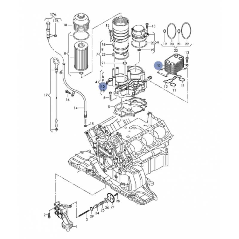 vw v6 Schema moteur