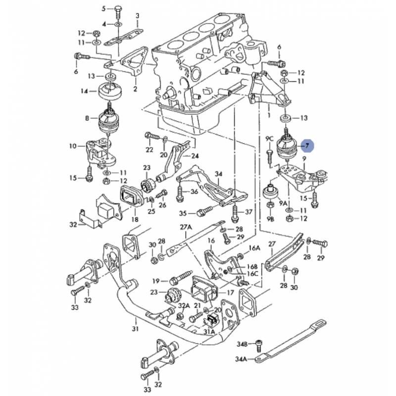 vw 2 0l Schema moteur