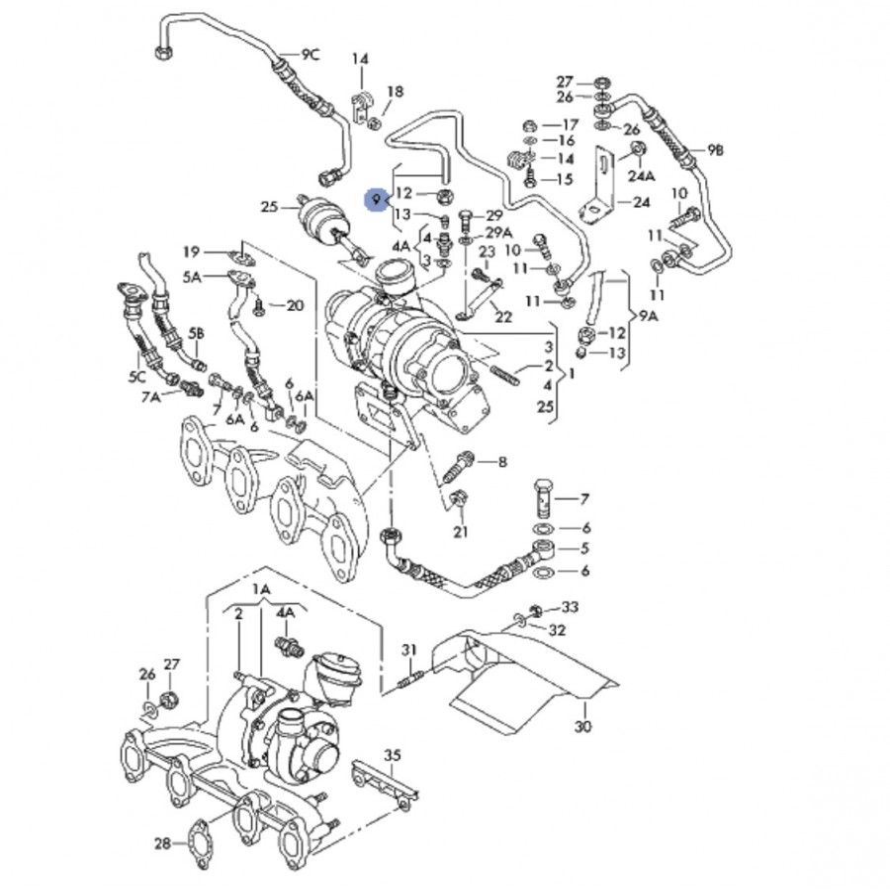 1 9 tdi Schema moteur