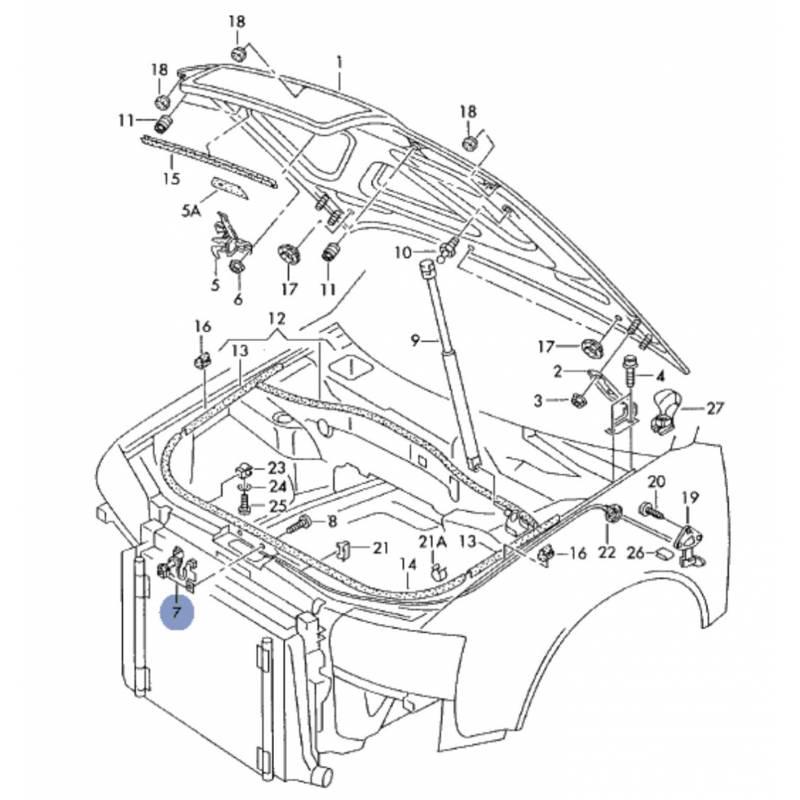 schema motor audi a4 b5