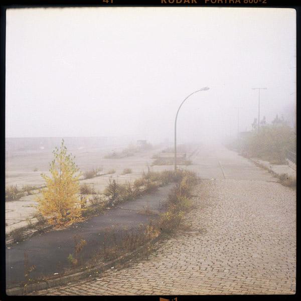 Nebel, foggy, Berlin, Friedrichshain, Elsenbrücke, Wasteland