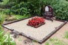 Sarkanbrūna granīta kapu sētiņa ar betona pamatu