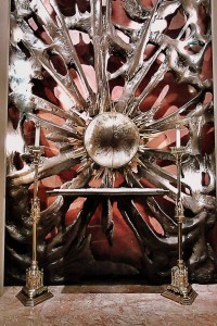 This...striking tabernacle is not in one of the glorious old Polish/Italian/German churches.