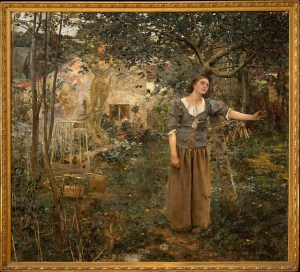 Jules Bastien-Lepage's Joan of Arc. Look at her. She's attentive and determined but somehow already exhausted. Do you listen for God? Do you act when he says to even if you don't think you have the strength?