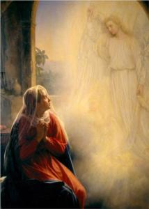 The Annunciation by Carl Bloch. It's an odd way to begin such an ordinary life.