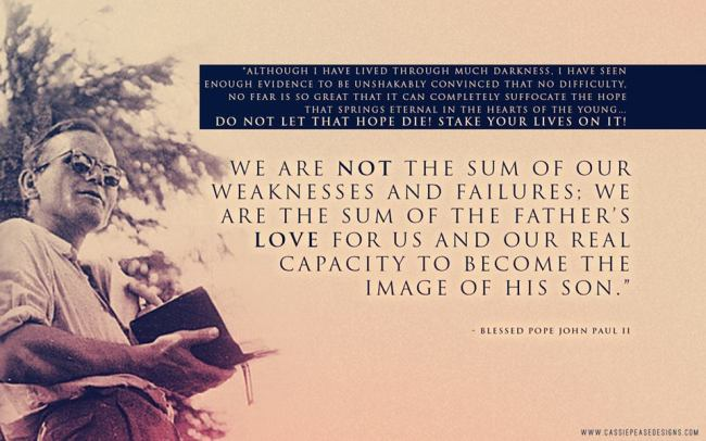 JPII sum of the Father's love