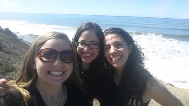 Pacific Ocean (California with girlfriends from high school)