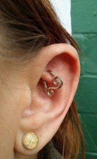 80+ Double Layered Rook Piercings to Accessorize Your Ear