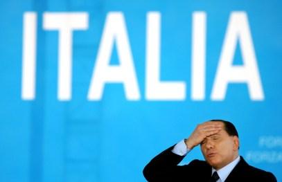 Former Italian Prime Minister Silvio Berlusconi, Naples, 2006.