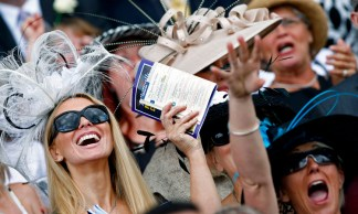 Race-goers, Royal Ascot race, 2008.
