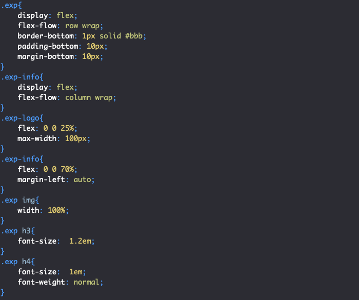 barre de niveau pour competences cv en html css