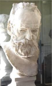 Victor Hugo, plâtre de Rodin (1884).Coll. SGDL.