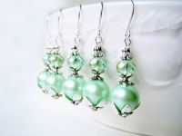 Mint Green Pearl Earrings