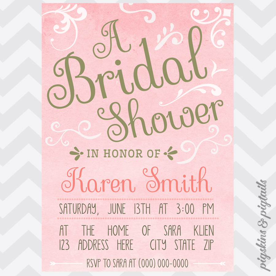 Fullsize Of Pink And Gold Baby Shower Invitations