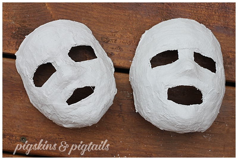 How To Make Plaster Masks | Pigskins & Pigtails
