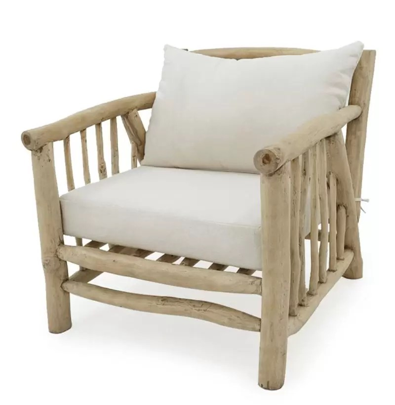 Deka 1 Seater Teak Branch Furniture Indonesia Chair
