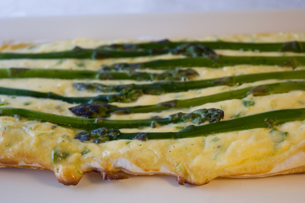 Asparagus Tart fresh from the oven
