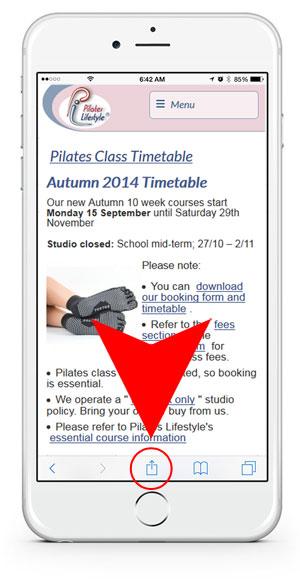 Free Pilates timetable app