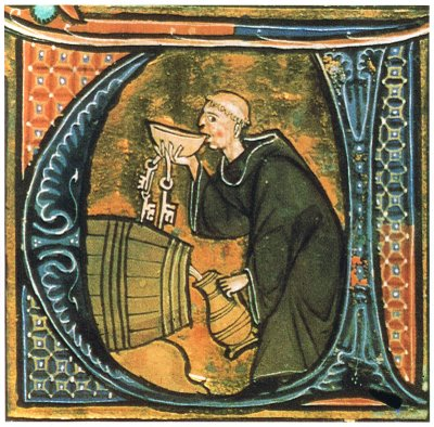 Double Fisting for Jesus. (image via medievalscript.com)