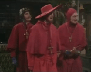No one expects the Spanish Inquistion. Or HR. (Image via blindfiveyearold.com)