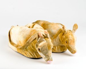 Some armadillo slippers for you, Meredith? Why yes, Meredith, that would be delightful.