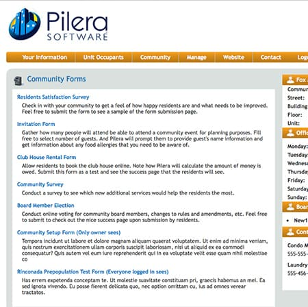 Forms - Pilera Software - invitation forms