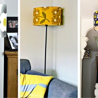 Wallpaper Lampshades to Match your Decor.