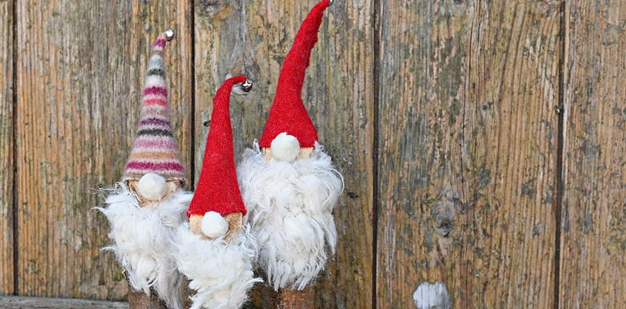 Super Easy to Make Cute Norwegian Christmas Gnomes - Pillar Box Blue
