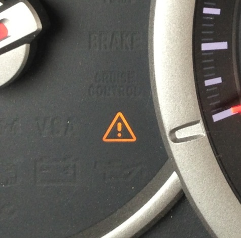 Brake Warning Light Blinked a Few Times When Coming Into Sharp Curve