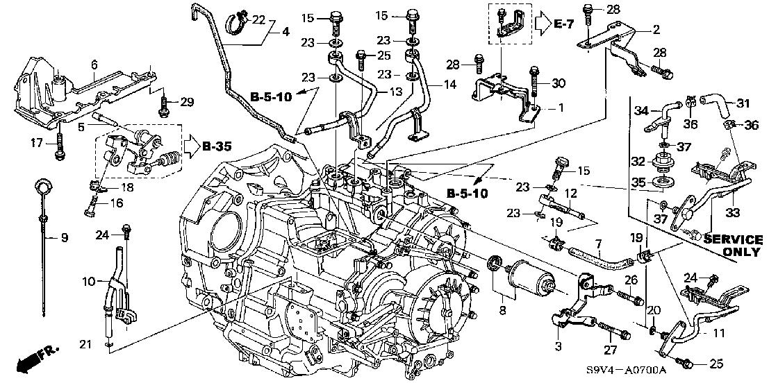 honda pilot transmission diagram
