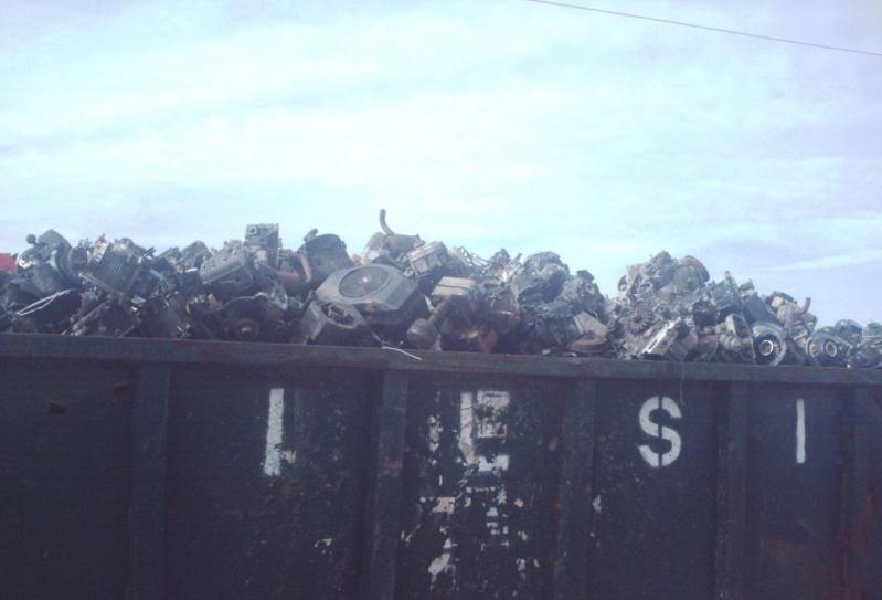 Mower Engines at Scrap Metal Yard