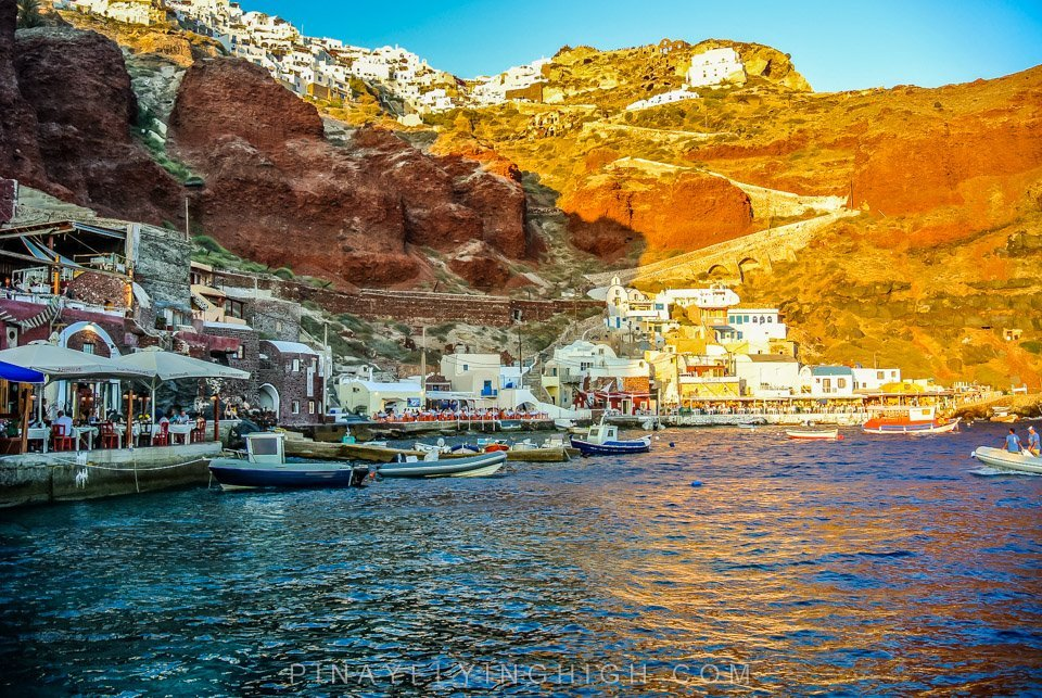 Santorini, Greece | Amoudi Bay, No White And Blue Houses But Just As Pretty.
