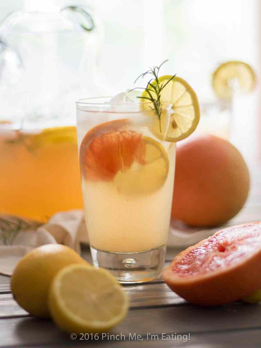 Grapefruit Rosemary Lemonade