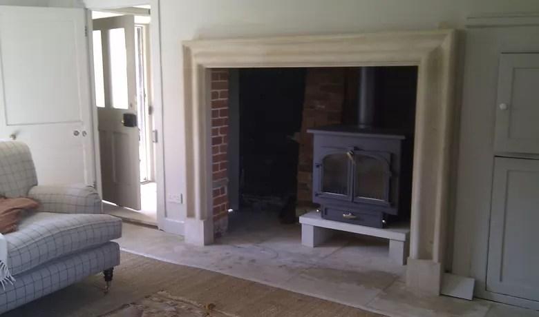 Large Bolection Frame Stone Fireplace Pinckney Green