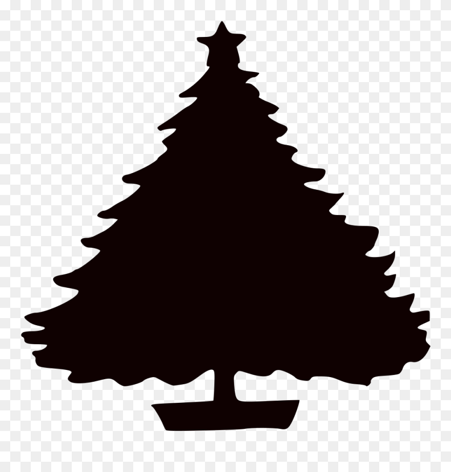 Christmas Tree Silhouette Free Download Clip Art Free - Christmas