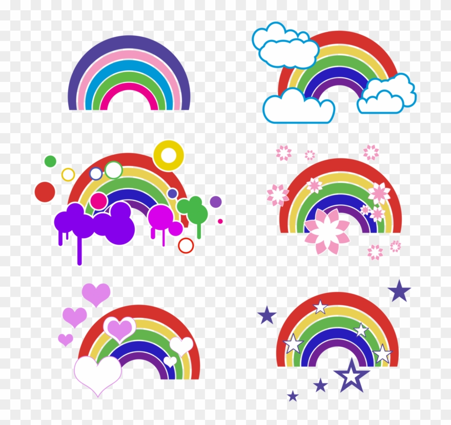 Rainbow Computer Icons Download Art Encapsulated Postscript - Vector