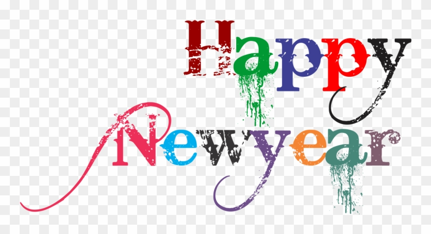 Happy New Year 2018 Clip Art - Happy New Year Png Transparent Png
