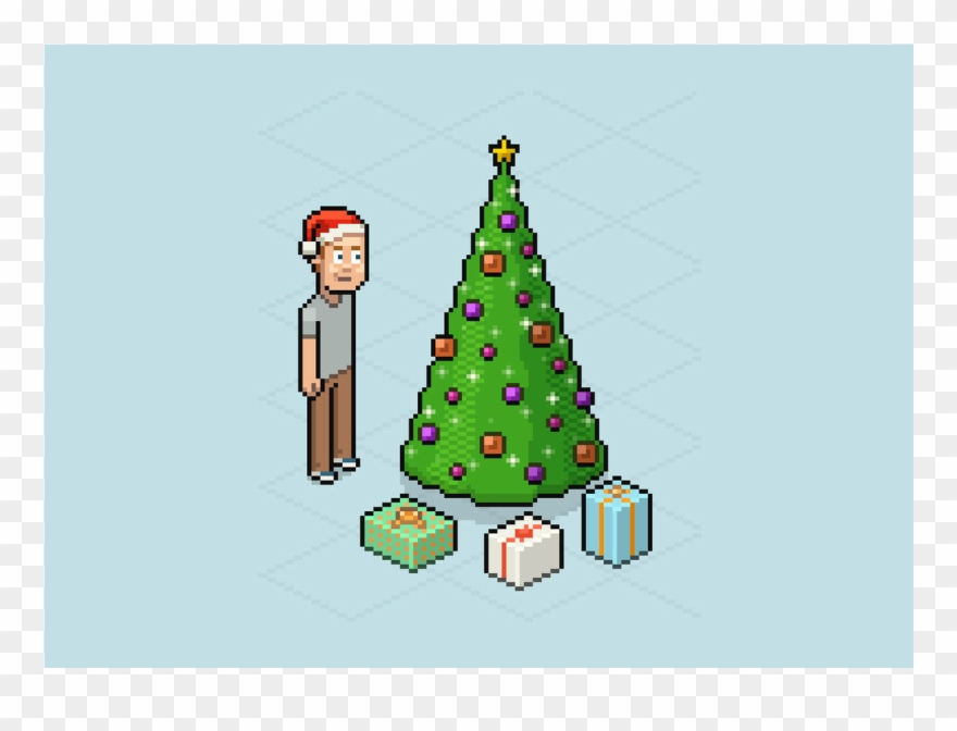 8 Bit Christmas Tree Png Graphic Design Animate A Pixel - Adobe