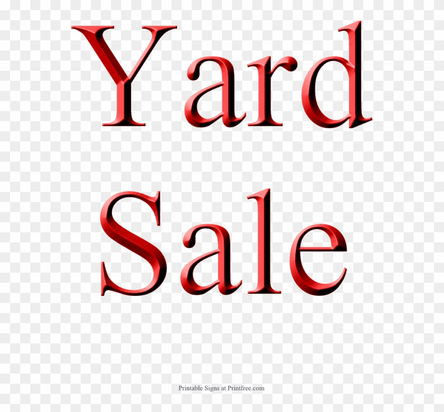 Yard Sale Sign, Red - Printable Blank Sale Signs Clipart (#1229473