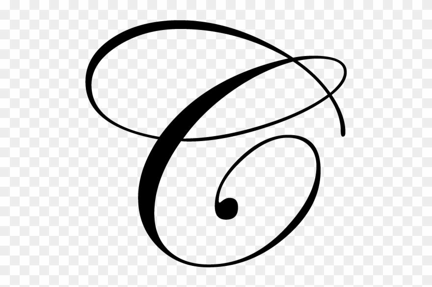 Fancy Cursive Alphabet Letters - Letra C Mayuscula Cursiva Clipart