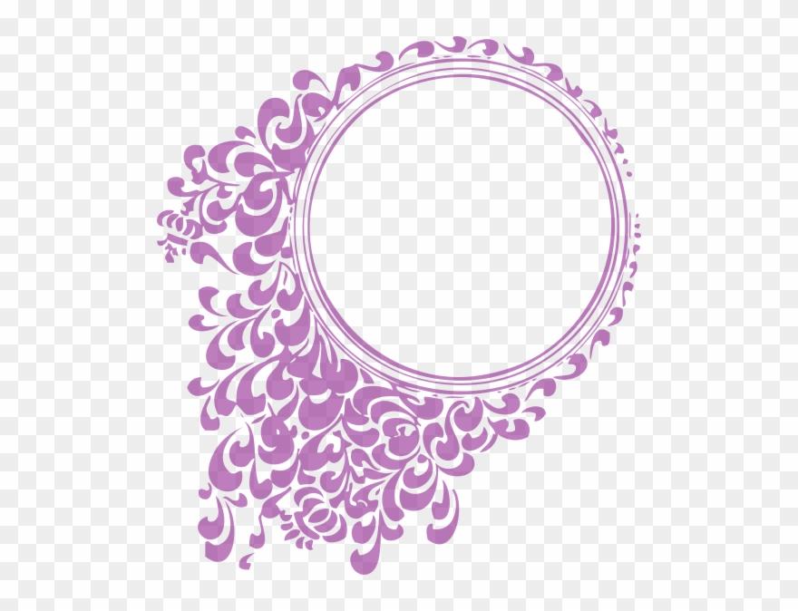 Jpg Library Purple Clip Art At - Circle Border Design Png