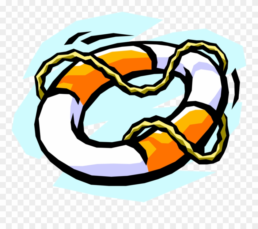 Vector Illustration Of Lifebuoy Ring Lifesaver Life Clipart