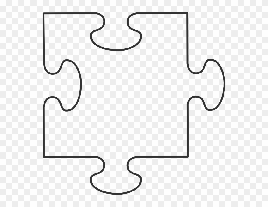 Blank Puzzle Piece Template Clipart (#192685) - PinClipart