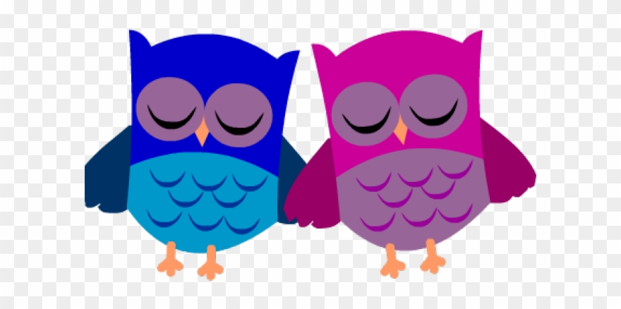 Love Birds Clipart Printable - Printable Stationery Owls - Png
